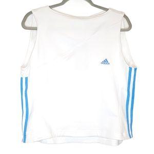 Vintage 3 Stripe Adidas Athletic Cropped Top, XL